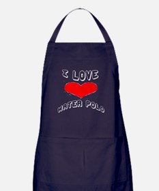 I love Water Polo Games Apron (dark)