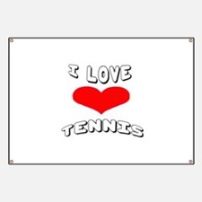 I love Tennis Games Banner