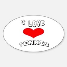 I love Tennis Games Decal