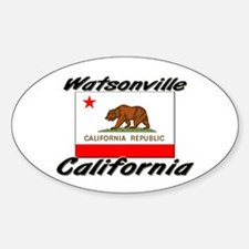 Watsonville California Oval Decal