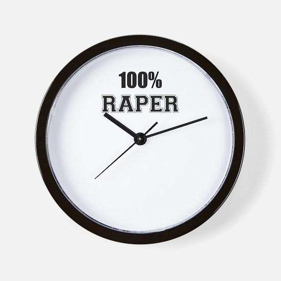 100% RAPER Wall Clock