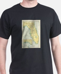 Vintage Map of Florida (1891) T-Shirt
