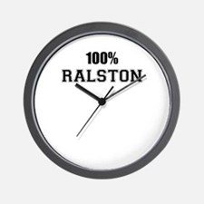 100% RALSTON Wall Clock
