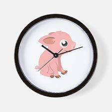 Baby Piglet Wall Clock