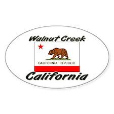 Walnut Creek California Oval Decal