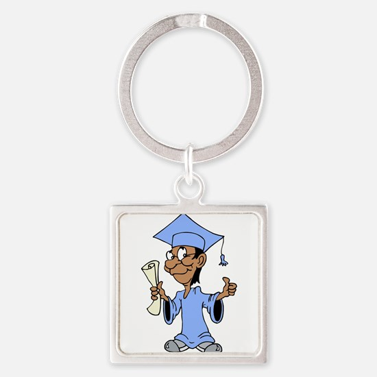 Light Blue Grad Keychains