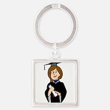 Lady Graduate Keychains