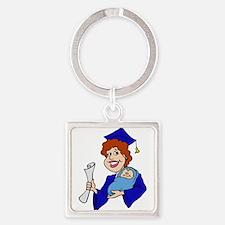 Mom Graduates Blue.png Keychains