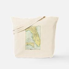 Vintage Map of Florida (1891) Tote Bag