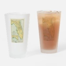 Vintage Map of Florida (1891) Drinking Glass