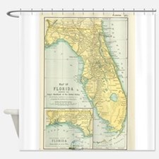 Vintage Map of Florida (1891) Shower Curtain