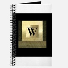 Black and Gold Monogram Journal