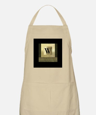 Black and Gold Monogram Apron