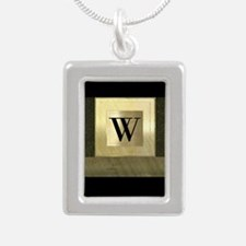 Black and Gold Monogram Necklaces
