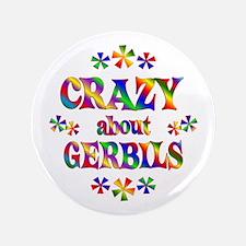 "Crazy About Gerbils 3.5"" Button (100 pack)"