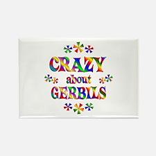 Crazy About Gerbils Rectangle Magnet