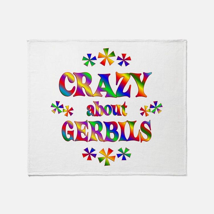 Crazy About Gerbils Throw Blanket