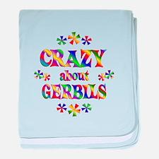 Crazy About Gerbils baby blanket