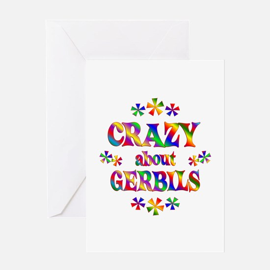 Crazy About Gerbils Greeting Card