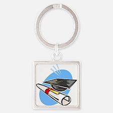 Graduation Diploma & Cap Keychains