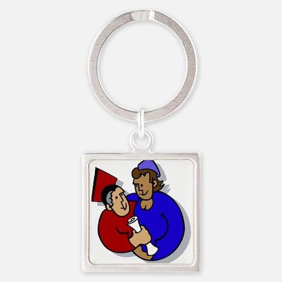 Grad Couple Keychains