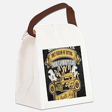 Cute Classic car Canvas Lunch Bag