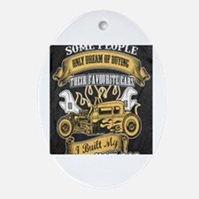 Unique Classic car Oval Ornament