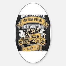 Unique Hot rod Sticker (Oval)