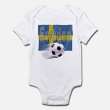 Soccer Flag Sweden Infant Bodysuit