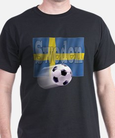 Soccer Flag Sweden T-Shirt