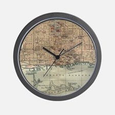 Vintage Map of Toronto (1894) Wall Clock