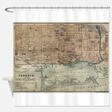 Vintage Map of Toronto (1894) Shower Curtain