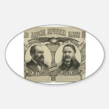 Cute President garfield Sticker (Oval)