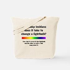 Lightbulb Joke Tote Bag
