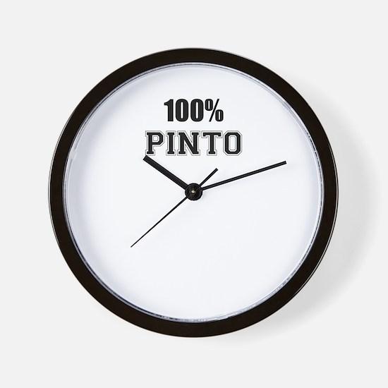 100% PINTO Wall Clock