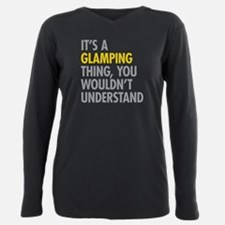 Camping Plus Size Long Sleeve Tee