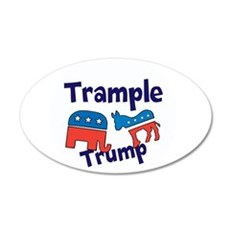 Trample Trump Wall Decal