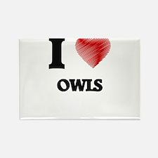 I Love Owls Magnets