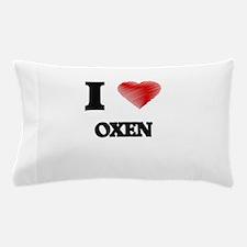 I Love Oxen Pillow Case
