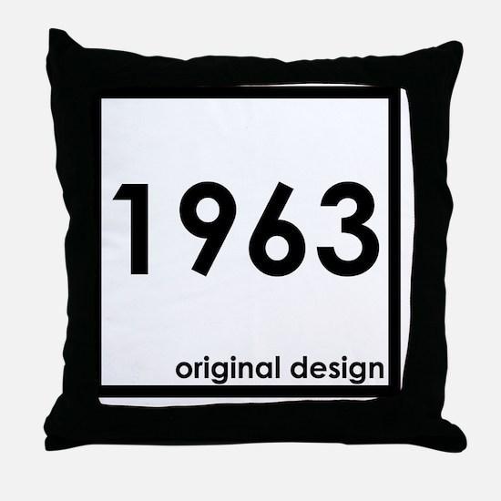 Unique 1963 Throw Pillow
