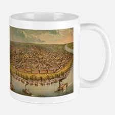 Vintage Pictorial Map of St. Louis (1859) Mugs