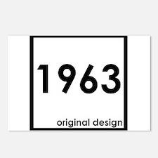 1963 year birthday origin Postcards (Package of 8)