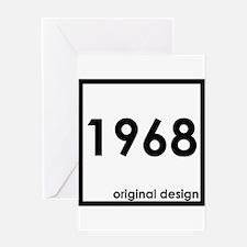 1968 birthday original design year Greeting Cards