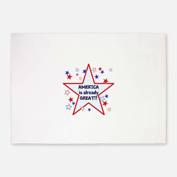America is already great, vote 2016 5'x7'Area Rug