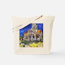 Funny Van gogh church at auvers Tote Bag