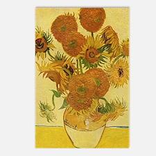 Cute Sunflower van gogh Postcards (Package of 8)