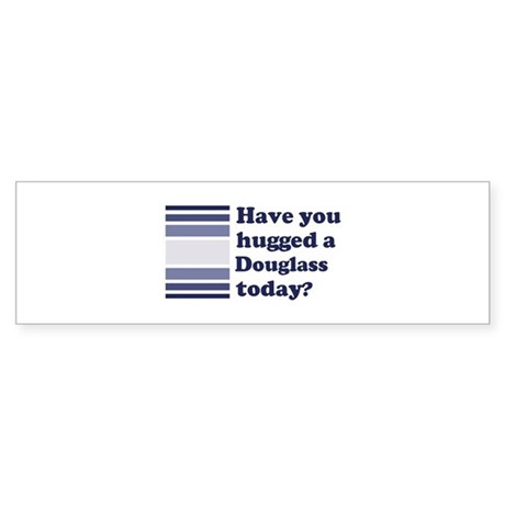Hugged Douglass Bumper Sticker