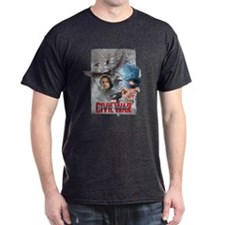 Team Captain America Collage T-Shirt