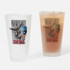 Team Captain America Collage Drinking Glass