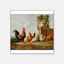 Barnyard Roosters Sticker